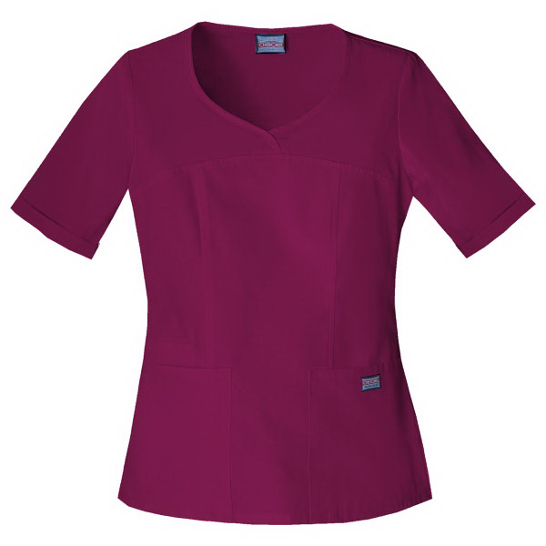 Cherokee Workwear Novelty V-Neck Top