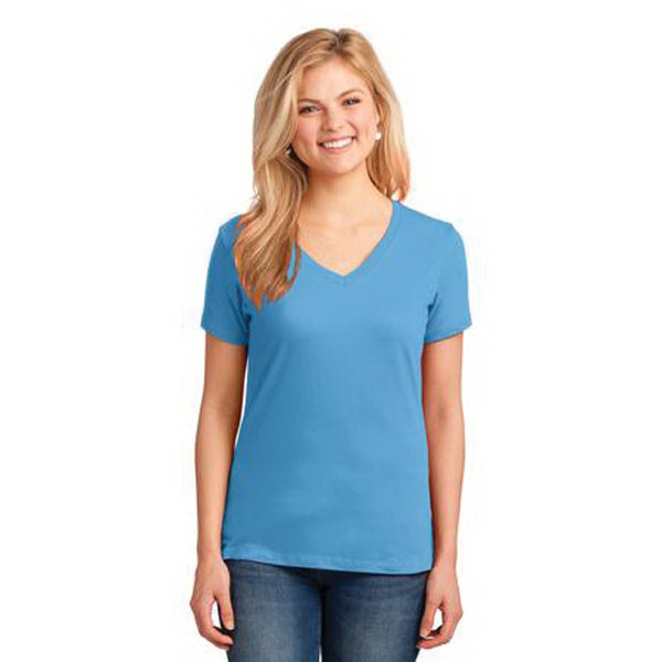Promotional Port & Company (R) Ladies' 5.4-oz 100% Cotton V-Neck