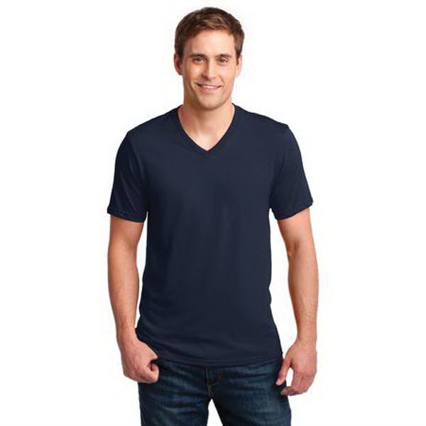 Imprinted Anvil (R) 100% Ring Spun Cotton V-Neck T-Shirt