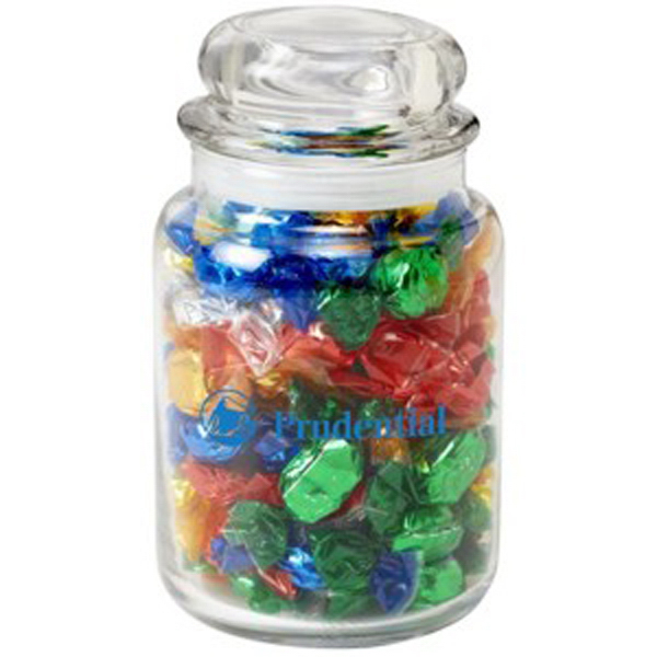 Round Glass Jar / Foil Wrapped Hard Candies