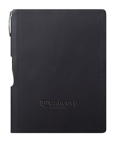 "GROOVE Journal w Pen - Black 5.75"" x 8.25"" (medium)"