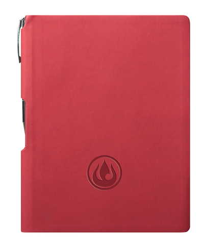 "GROOVE Journal w Pen - Red 5.75"" x 8.25"" (medium)"