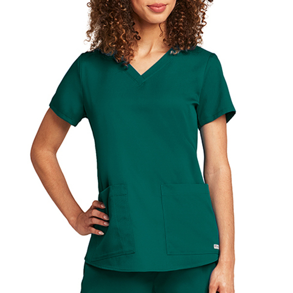 Printed Barco Grey's Anatomy Women's V-Neck Top
