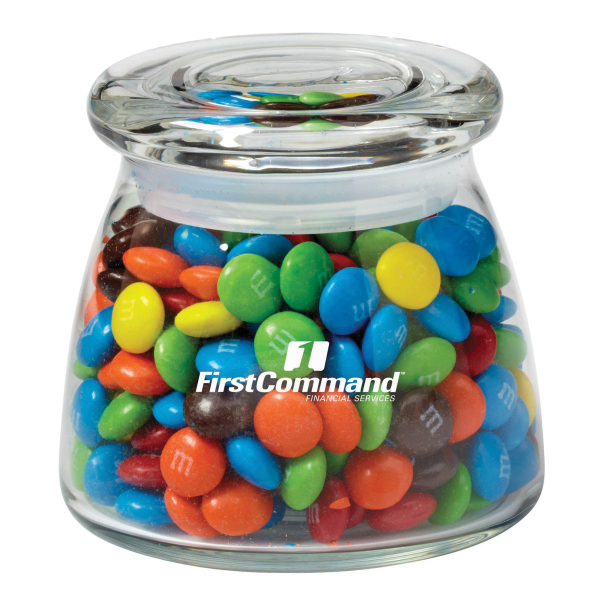 Glass Vibe Jar with candy coated chocolates