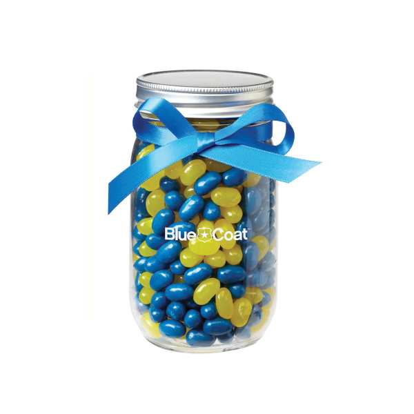 Glass Mason Jar with Jelly Belly(R) Jelly Beans