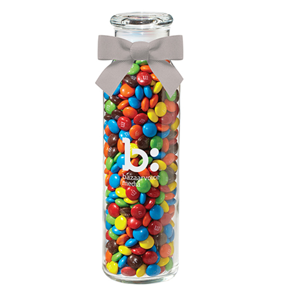 Glass Hydration Jar with candy coated chocolates