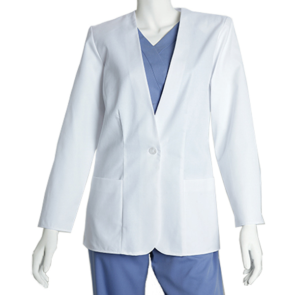 Imprinted Barco Women's V-Neck Lab Coat