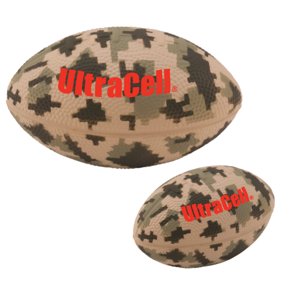Digital Camo Large Football Stress Reliever