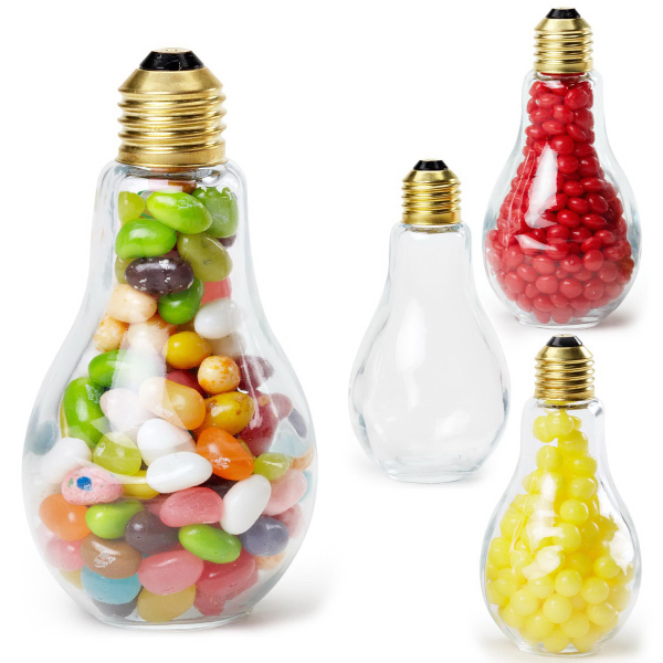 Light Bulb Clear Glass Medium Container Empty