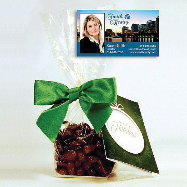 Milk Chocolate Raisins in a 4oz Festive Gift Bag with Magnet