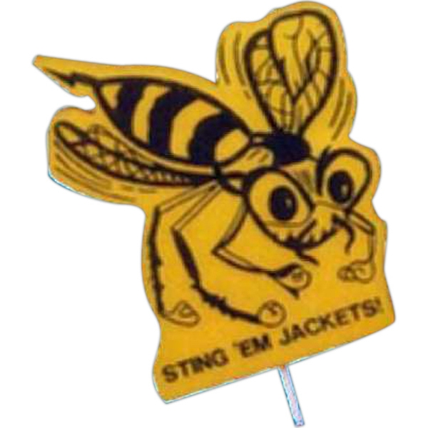 Mascot on a Stick - Yellow Jacket