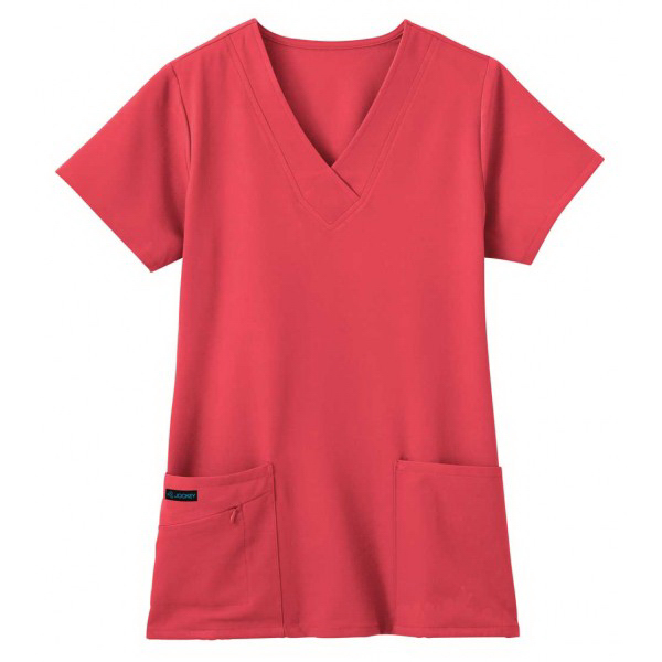 Jockey Ladies V-Neck Zipper Pocket Top