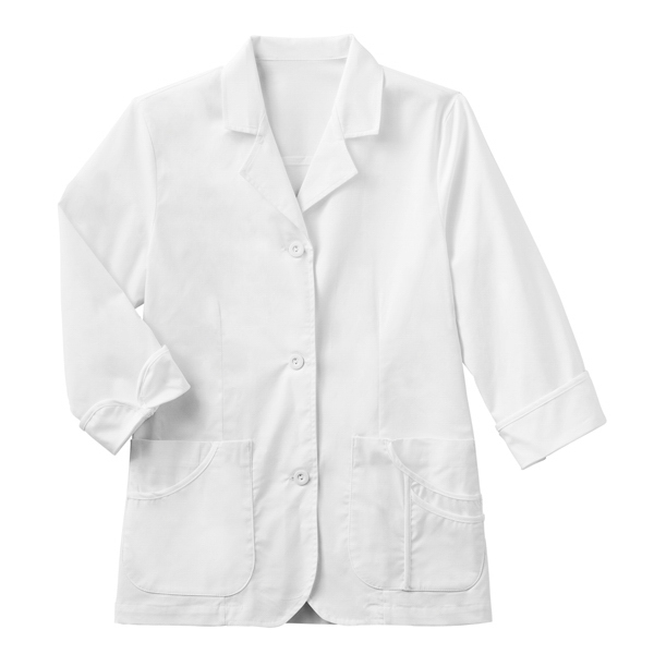 Meta Ladies 3/4 Sleeve Stretch Labcoat