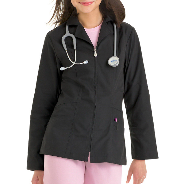 Urbane Women's Zipper Lab Coat
