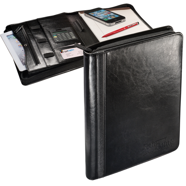 Alpha (TM) Zip-Around Portfolio w/Tablet Case & Calculator