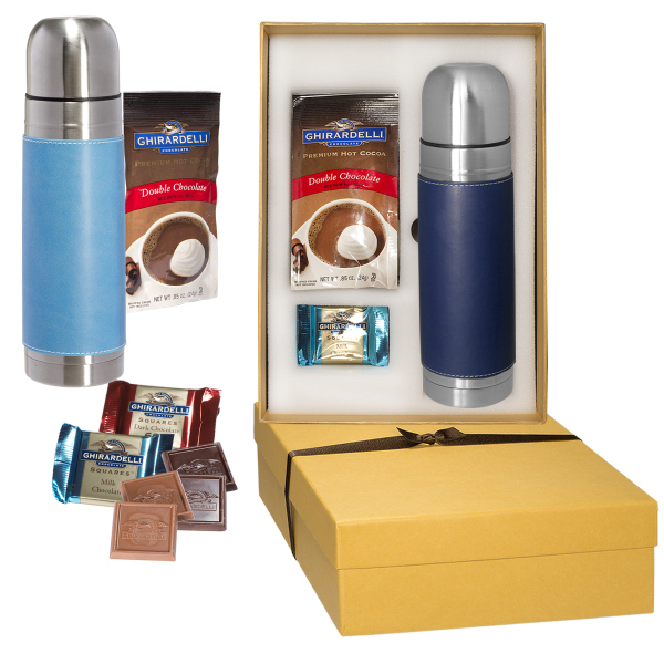 Ghirardelli (R) and Tuscany (TM) Thermos Gift Set
