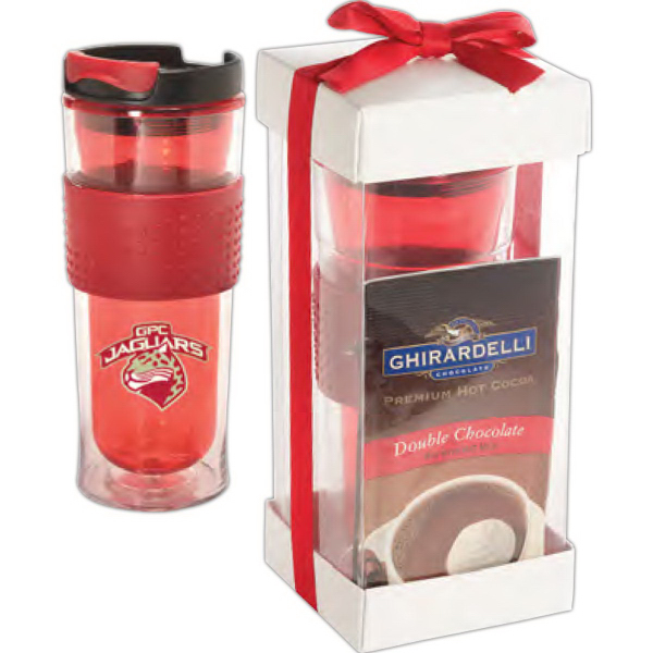 Cool Gear (TM) Mason Coffee Tumbler & Ghirardelli (R) Set