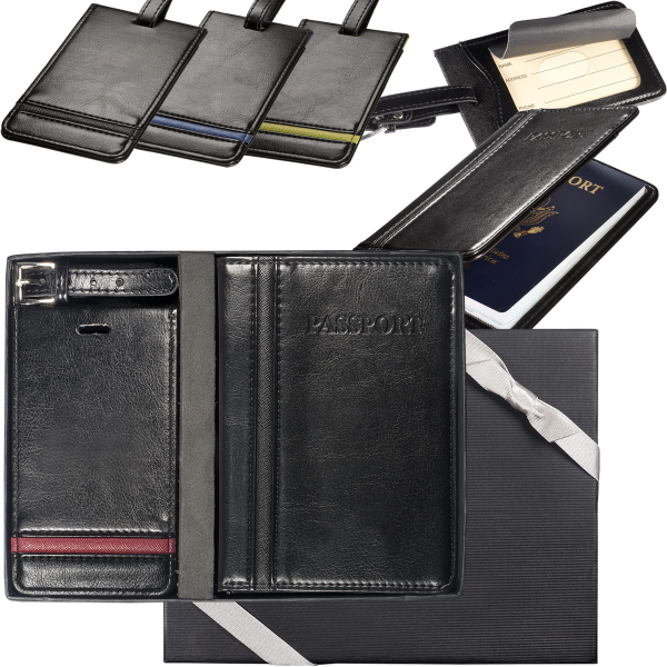 Alpha (TM) Luggage Tag and Passport Wallet Set