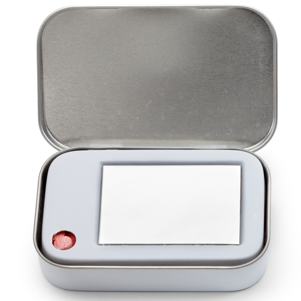 Tin Box Hinged with Mirror filled with Chocolate Mints