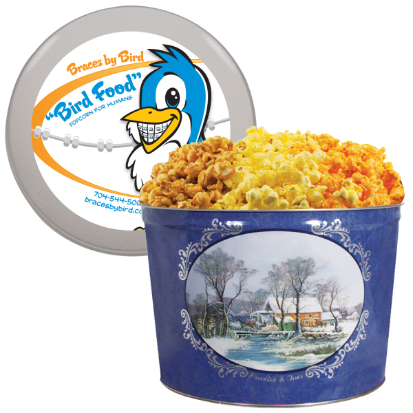 Copy of Designer Two Gallon Popcorn Tin-Three Flavors-Currie