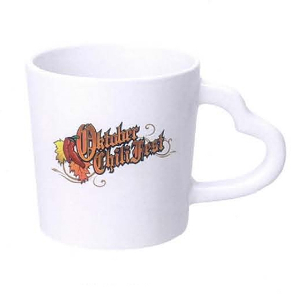 14 oz. Heart Handle White Mug