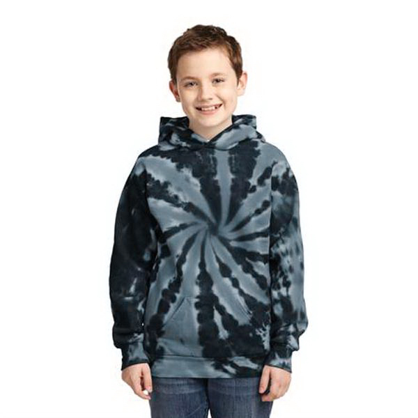 Youth Essential Tie-Dye Pullover Hooded Sweatshirt