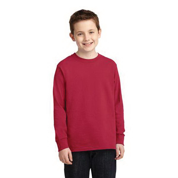 Port & Company Youth Long Sleeve 5.4 Oz. 100% Cotton T-Shirt