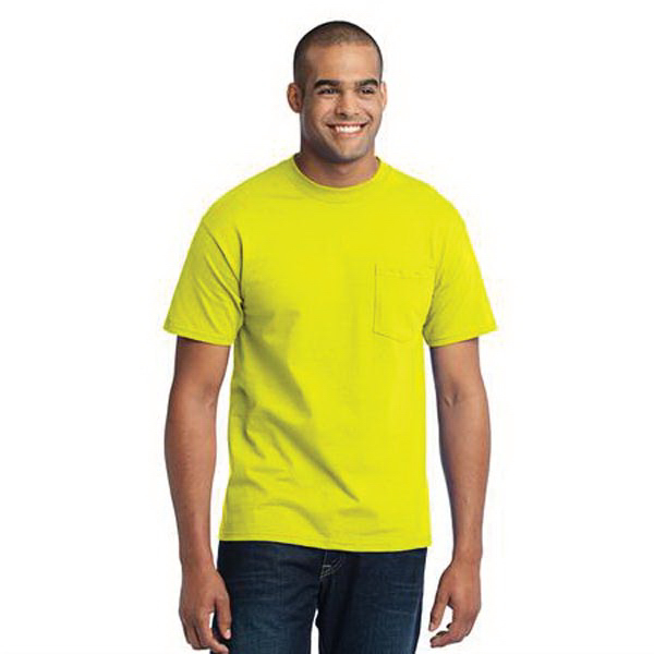 Port & Company Tall 50/50 Cotton/Poly T-Shirt with Pocket