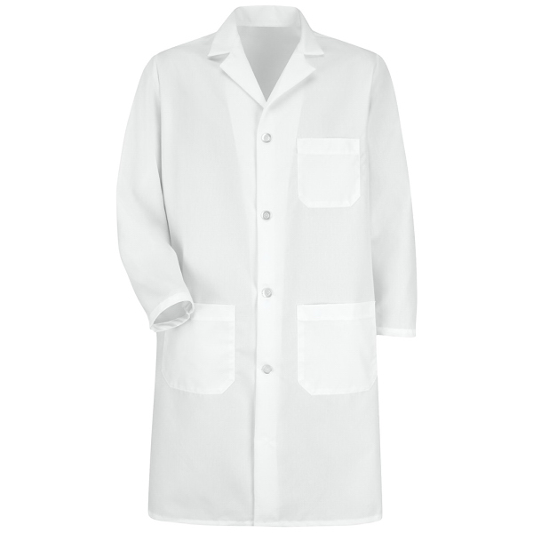 Red Kap Men's Snap Front Lab Coat