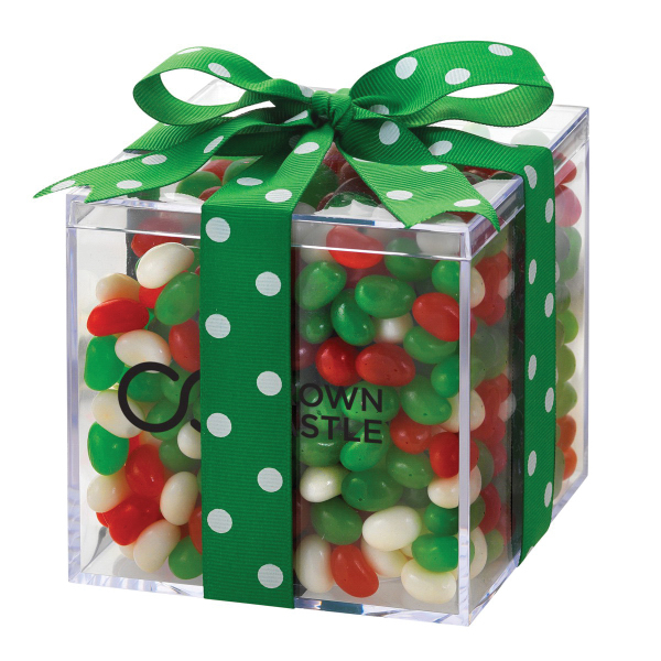 Elegant Gift Box with Christmas Gourmet Jelly Beans
