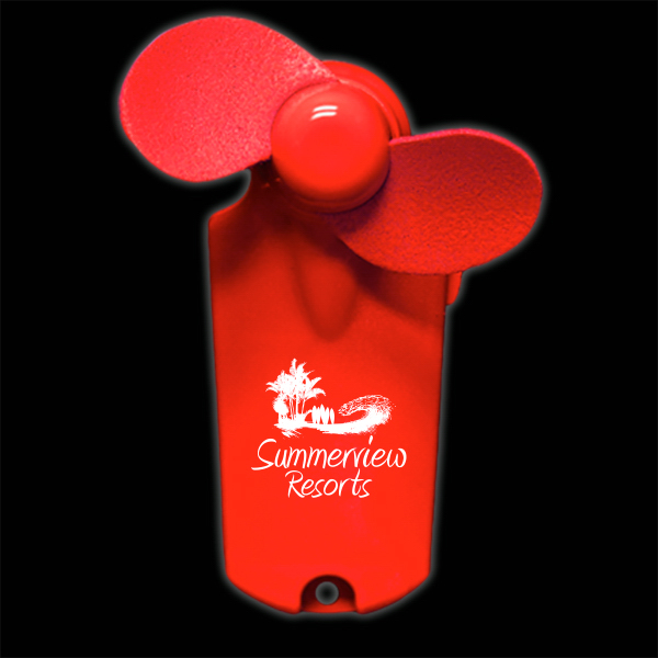 Red Handheld Fan