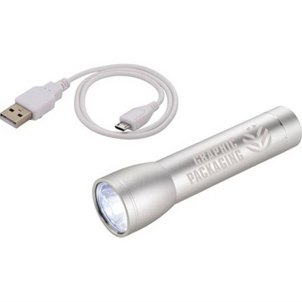 Beacon Aluminum Flashlight Power Bank