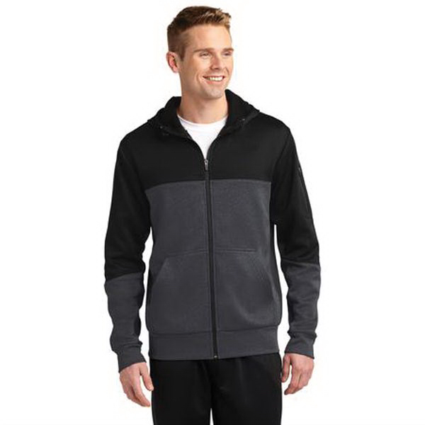 Sport-Tek Colorblock Tech Fleece Hooded Jacket