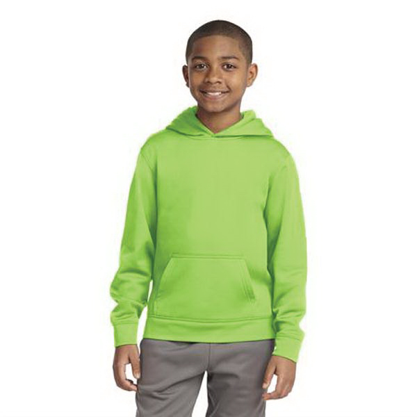 Youth Sport-Tek(R) Sport-Wick(R) Fleece Hood Pullover