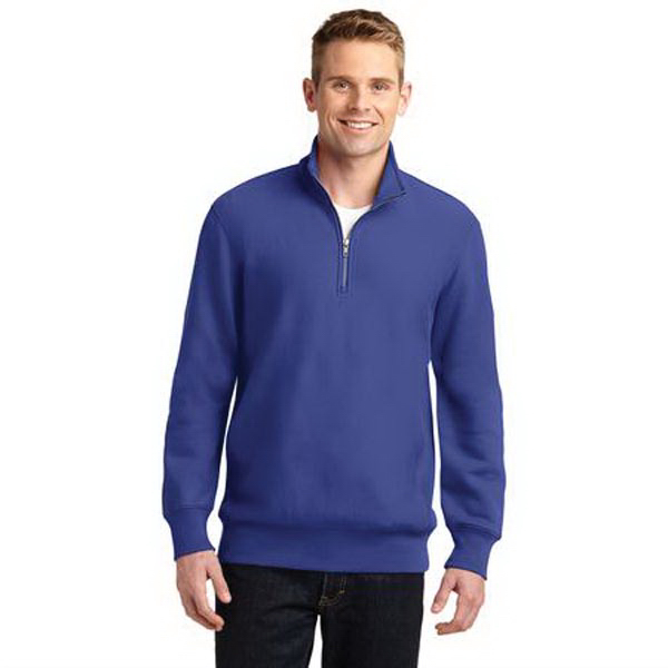 Sport-Tek (R) Super Heavyweight 1/4-Zip Pullover Sweatshirt