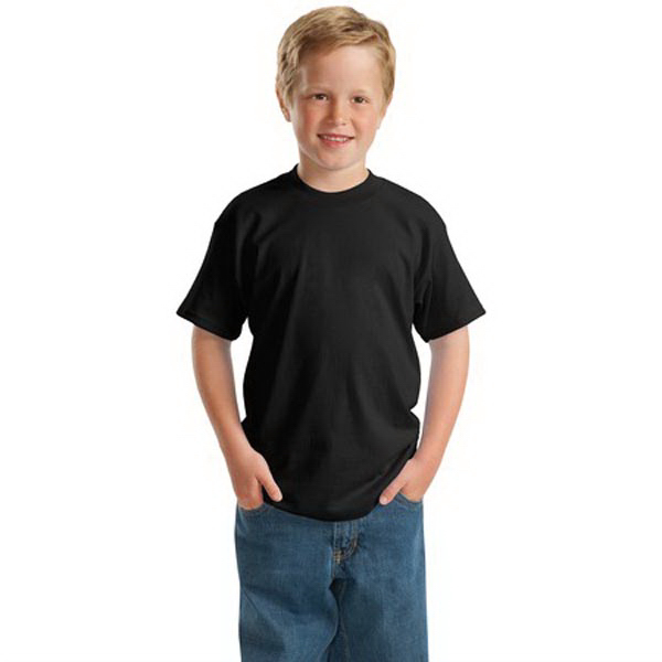 Hanes (R) ComfortSoft Youth Heavyweight 100% Cotton T-Shirt