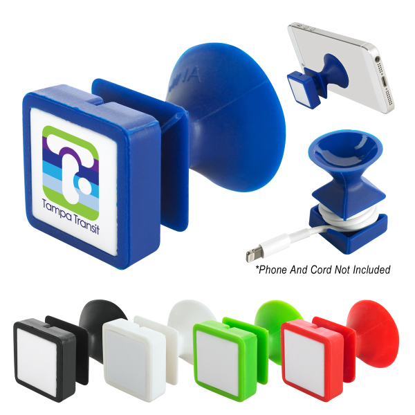 Suction Phone Stand & Cord Wrap Combo