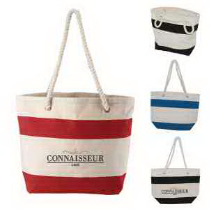 Cotton Resort Tote with Rope Handle