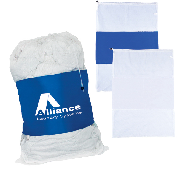 Laundry bags for laundry vary in material, size, shape, and additional features. Material: The most popular bags for laundry are either mesh or canvas because these fabrics allow dirty clothes to breathe, thus minimizing mildew.