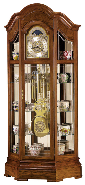 Majestic curio floor clock