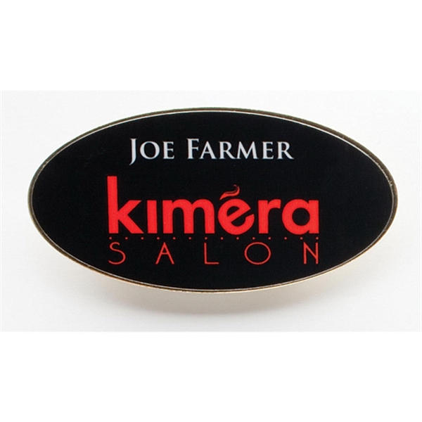 USA Digital Print Name Badge (Oval)