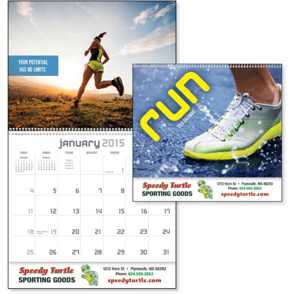 Running Theme Mid Year Monthly 2015 Calendar