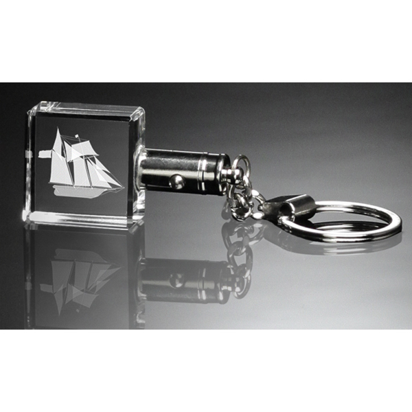 Square Lighted Keychain