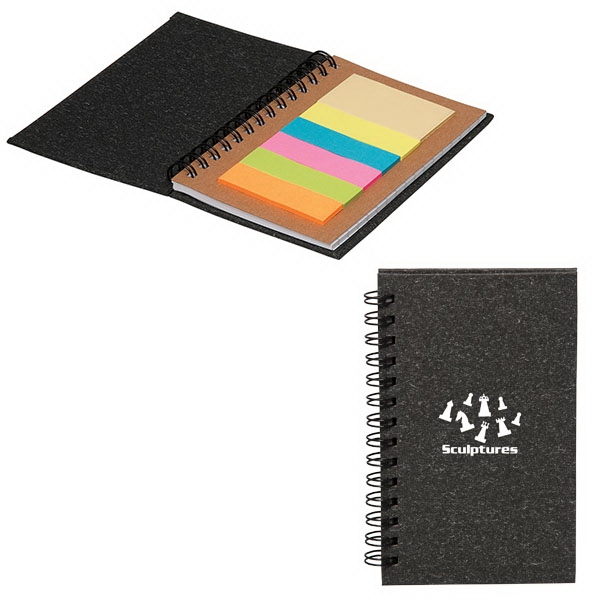 Geneva Mini Notebook with 120 Sticky Notes