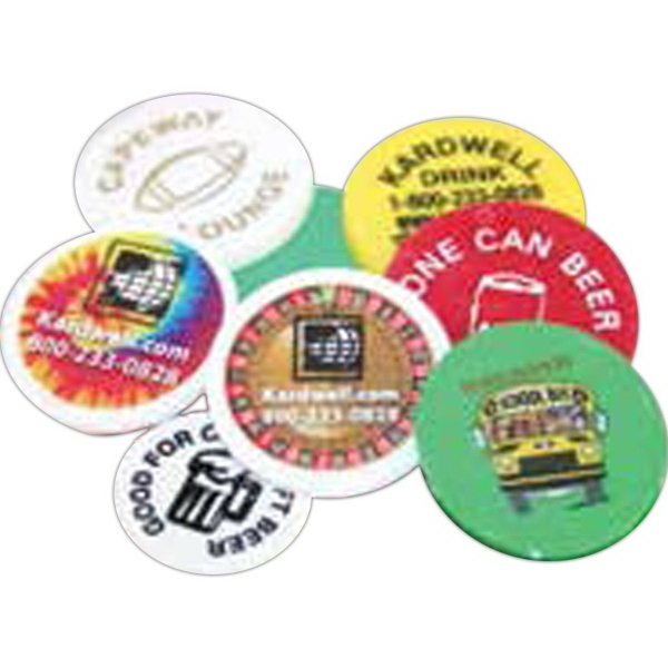 Full-Color Plastic Game Tokens