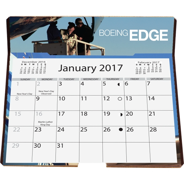 Full Color Calendar with Easel Back