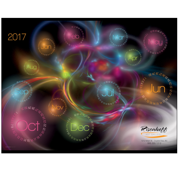 Contemporary Glow in the Dark Span-A-Year Calendar