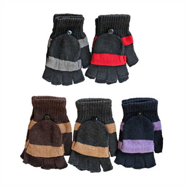 Assorted Color Convertible Fingerless Gloves/Mittens