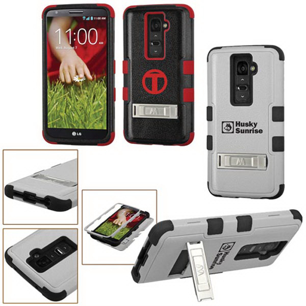 TUFF Hybrid Protector Cover with Stand for LG G2