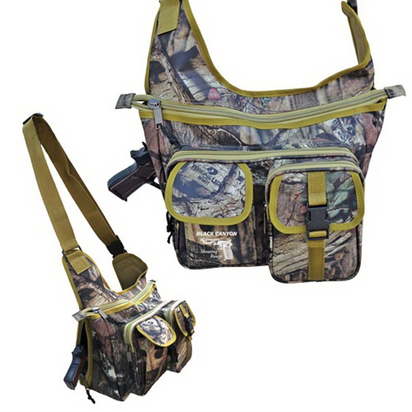 Mossy Oak (R) Camo Sling Shoulder Pack with Gun Pocket